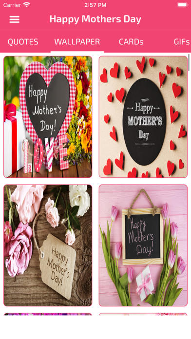 Screenshot #1 pour Mothers Day Cards & Wallpapers