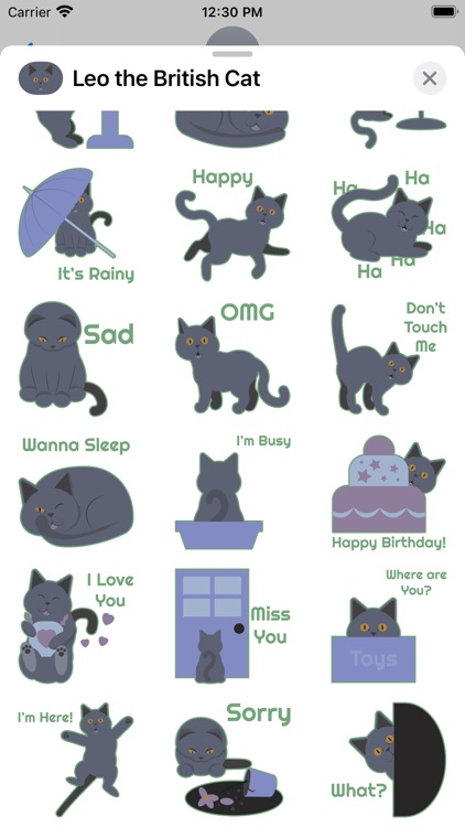 Leo the British Cat Stickers
