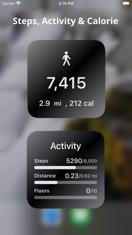 Health Widget – Steps Counter