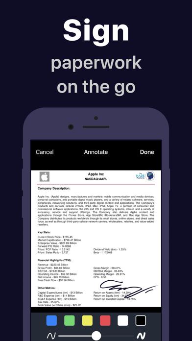 Scanner App: Docs Scan & Sign Screenshot