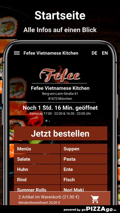 Fefee München Lieferservice screenshot 2