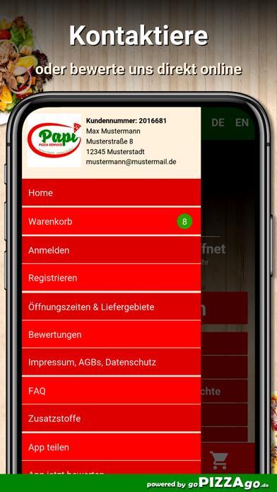Papi Pizza Service Metzingen screenshot 3