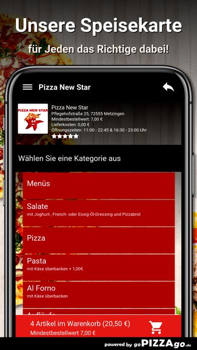 Pizza New Star Metzingen screenshot 4