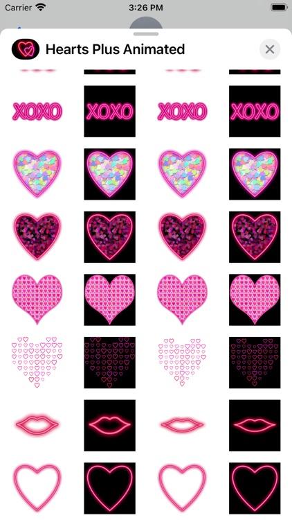 Hearts Plus Animated Neon screenshot-3