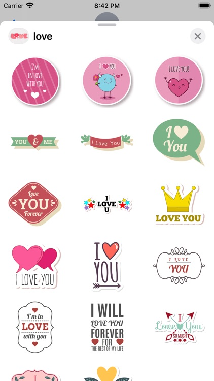 """""""Love"""" - Stickers for iMessage screenshot-7"""