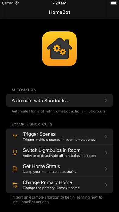 HomeBot for Shortcuts screenshot 1