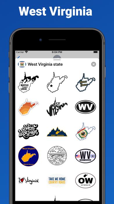 West Virginia state USA emoji screenshot 1