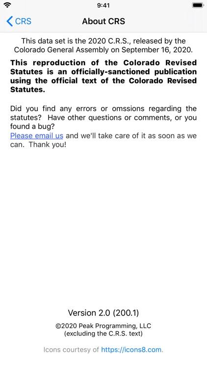 Colorado Revised Statutes 2020 screenshot-7