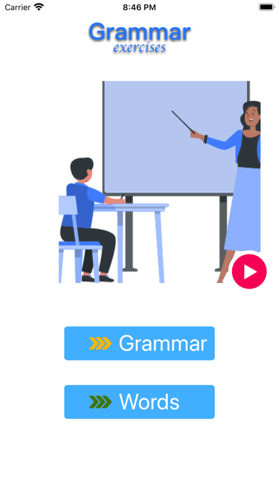 Grammar exercises screenshot 1