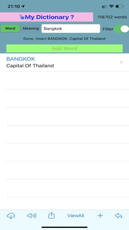 Editable Personal Dictionary screenshot-4