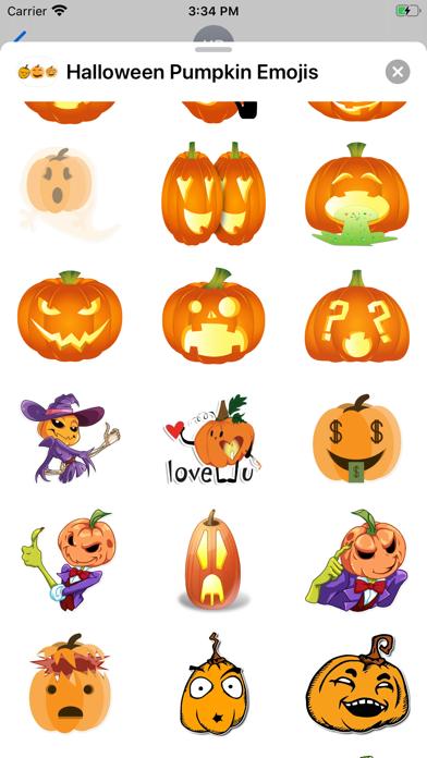 Screenshot of Halloween Pumpkin Emojis App
