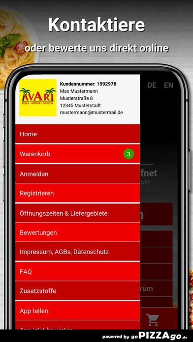 Avari Pizzaservice Dresden screenshot 2