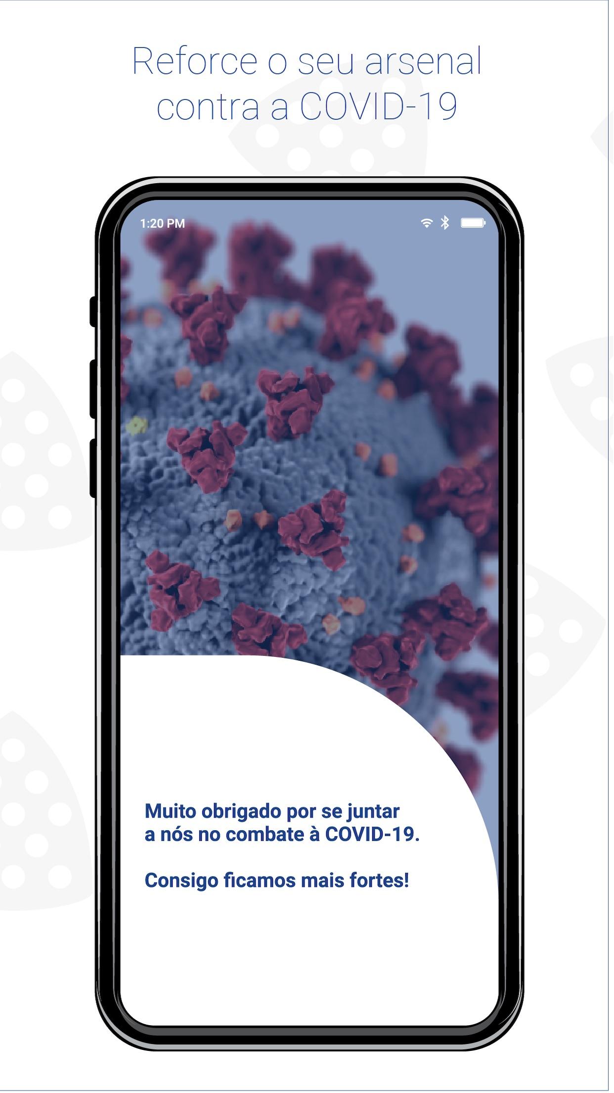 Screenshot do app STAYAWAY COVID