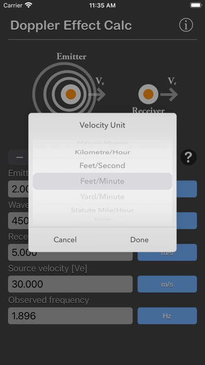 Doppler Effect Calculator screenshot-6