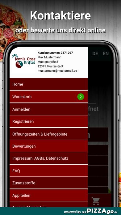 Tennis Oase Kriftel Pizza screenshot 3