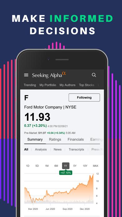 Seeking Alpha: биржа и новостиСкриншоты 2