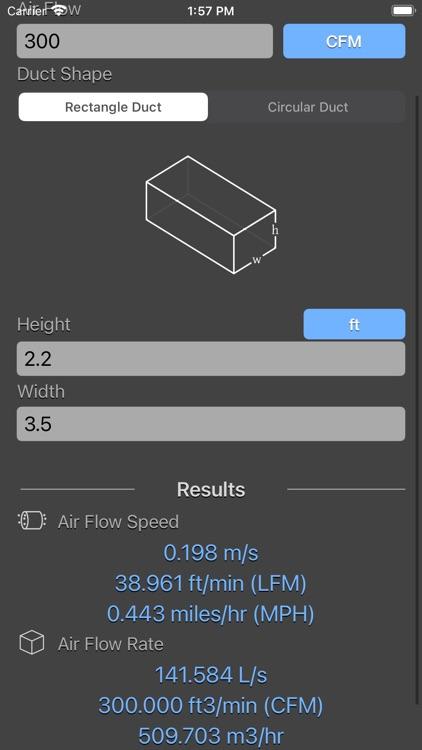 Air Flow Conversion Calculator screenshot-7