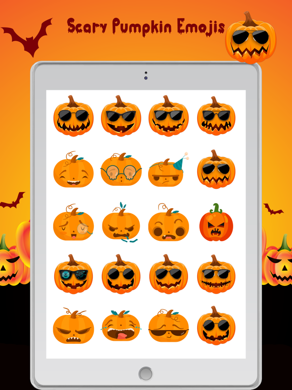 Scary Pumpkin Emojis screenshot 7