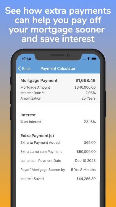 Mortgage Pal - Loan Calculator screenshot