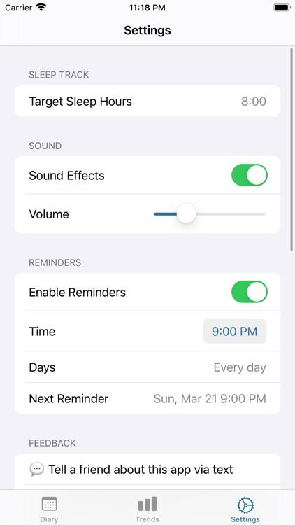 Sleep Track screenshot-3