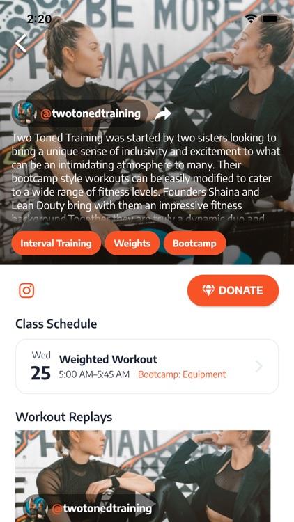 Salut: live fitness classes screenshot-4