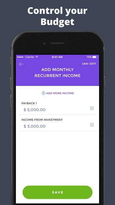 Budget Finance Tracker - 毎日の予算のスクリーンショット4