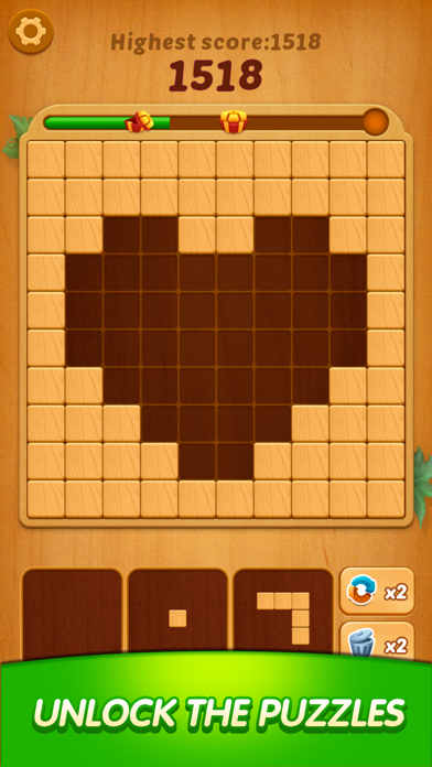 Lucky Woody Puzzle: Wood Block