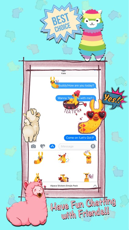 Alpaca Stickers Emojis Pack screenshot-3