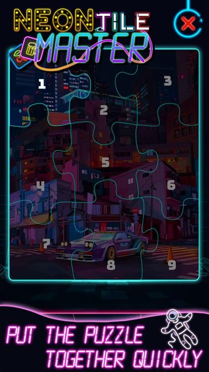 Neon Tile Master screenshot-4