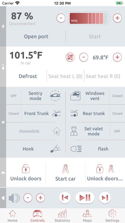 Remote T: mobile app for Tesla
