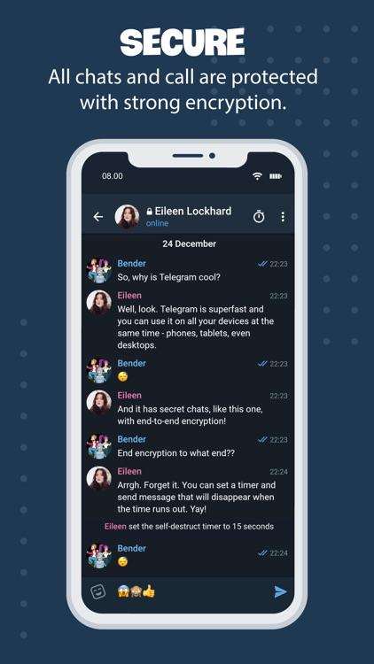 Tele Messenger Chat Secure screenshot-5