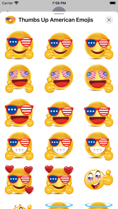 Thumbs Up American Emojis screenshot 1