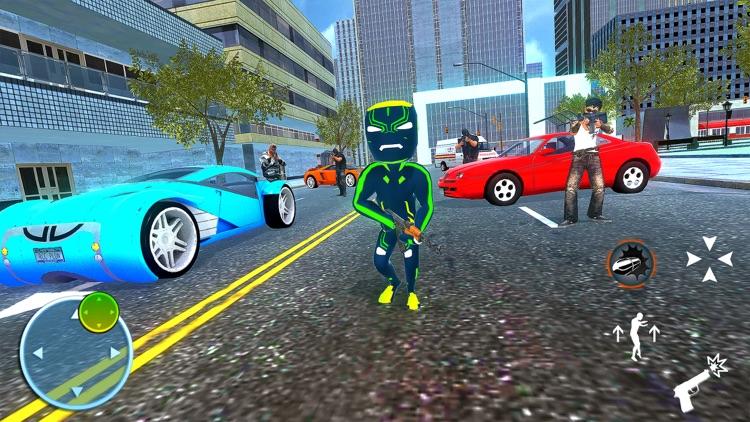 Neon Iron Stickman Superhero 2 screenshot-3