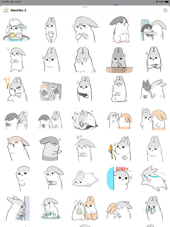 Ipad Screen Shot Machiko Rabbit Pack# 3 6