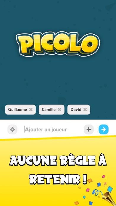 Picolo · Jeu en soirée