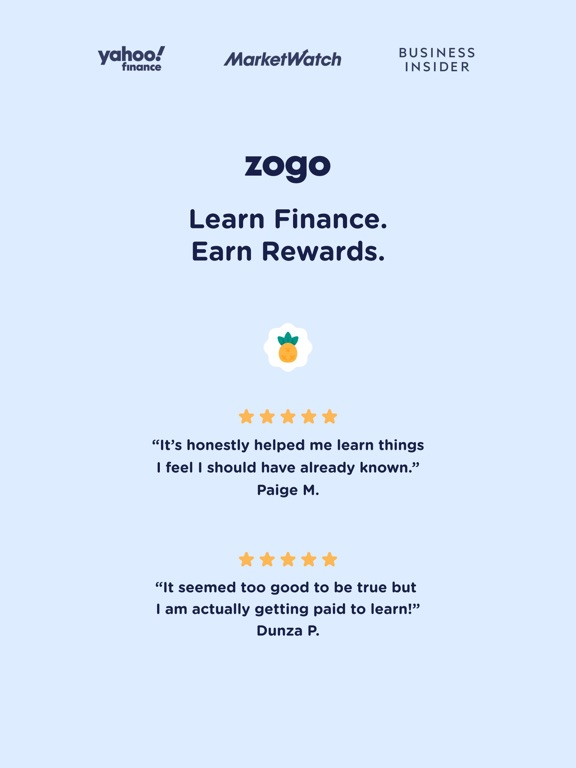 iPad Image of Zogo: Finance Simplified
