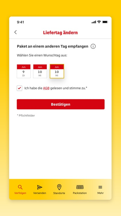 DHL Paket screenshot-2