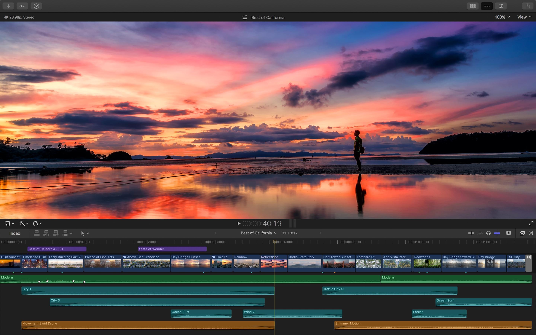 Screenshot do app Final Cut Pro X