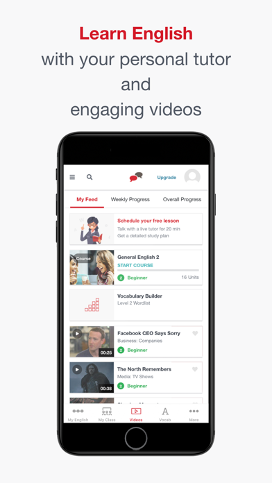 englishcentral learn english by englishcentral inc ios united states searchman app data information