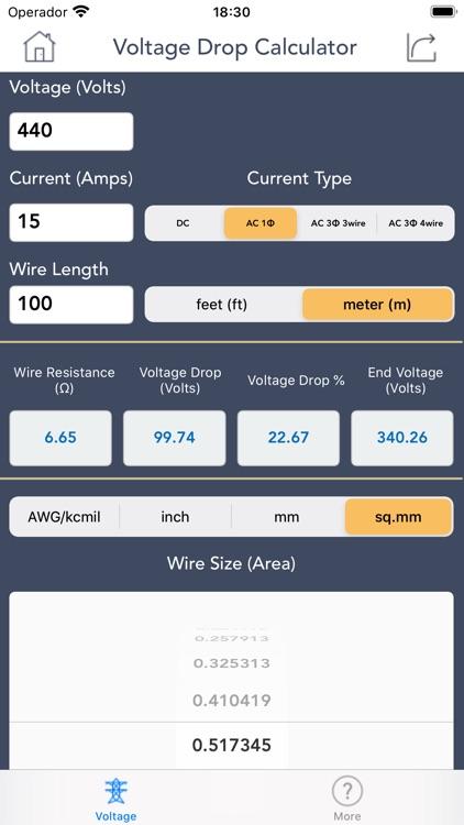Voltage Drop Calculator. screenshot-5
