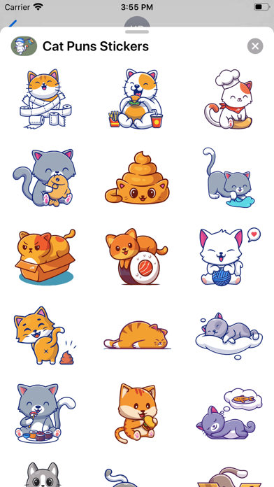 Cat Puns Stickers Screenshot