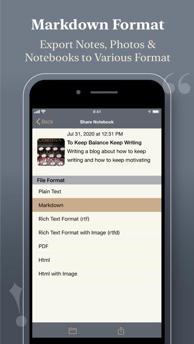 Notewrap - Book & Blog Writer屏幕截图5