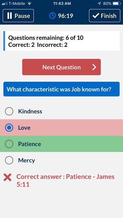Bible Trivia Quiz - No Ads screenshot-4