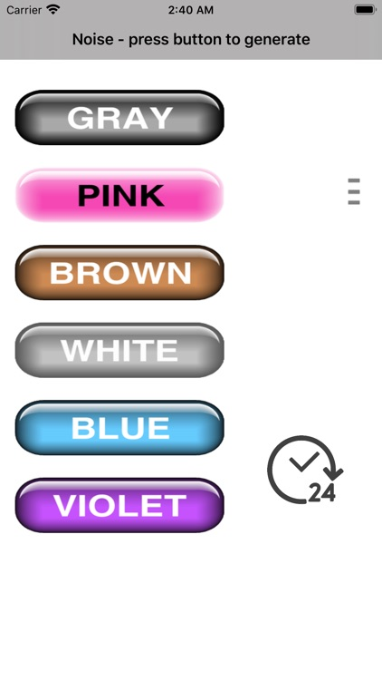 Noise gray pink brown white
