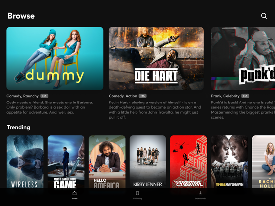 iPad Image of Quibi: All New Original Shows