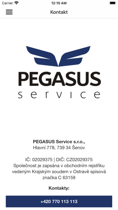 PEGASUS Service screenshot 6