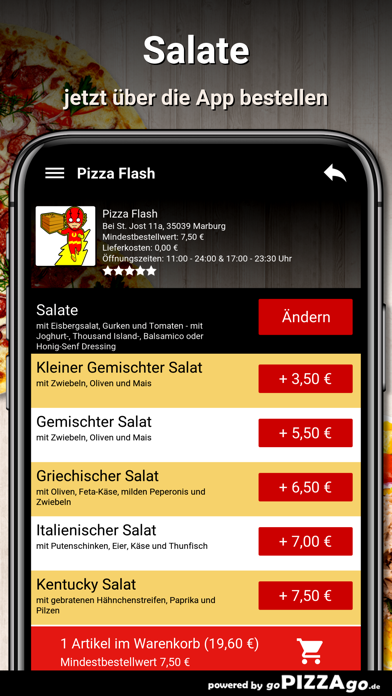 Pizza Flash Marburg screenshot 5