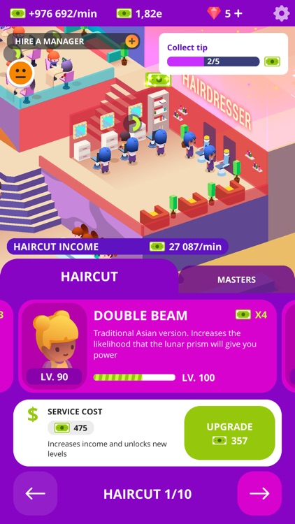 Idle Beauty Salon Clicker screenshot-5