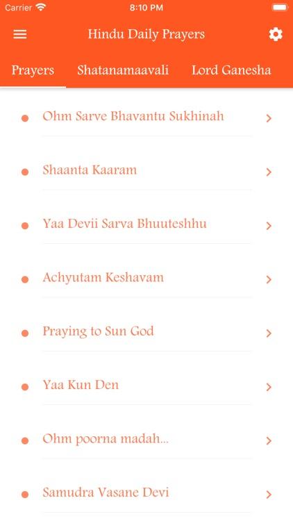 Hindu Daily Prayers