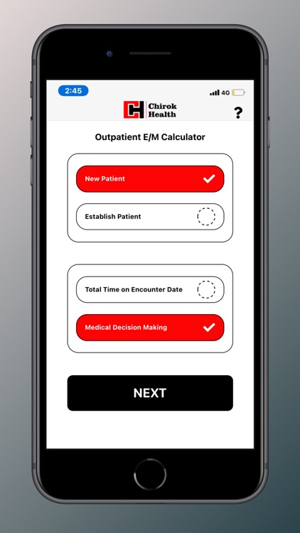 Chirok Health E/M Calculator